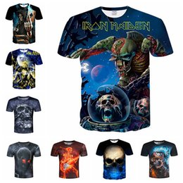 420c54a5 Multi Styles 3D Skull Printed T-shirt skeleton pattern shirt for men kids  personality fashion cool short sleeve shirt NNA632