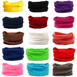 Wholesale Men Women s Turban Magic Scarf Outdoor Sports Bicycle Riding Headband Bike Cycling Balaclava Neck Tube Warmer Bandanas Face Mask