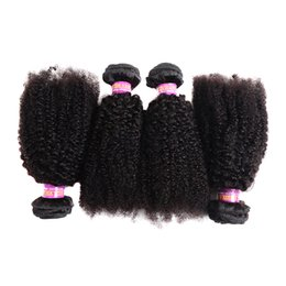 brazilian curly weaving hair 2019 - 8A Afro Curly Monglian Virgin Hair Extensions 3 Bundles Natural Color Afro Kinky Curly 100% Human Hair Weaving 4B 4C Hum