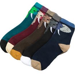 8ab63ebc7030a 1 пара мужчины носки милые животные слон дизайн повседневная мультфильм  хлопчатобумажные носки смешно счастливый высокое качество трубки Sox  горячие продажа