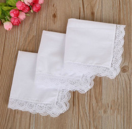 handkerchief gift 2019 - White Lace Thin Handkerchief Woman Wedding Gifts Party Decoration Cloth Napkins Plain