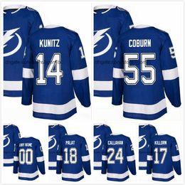 Chris Kunitz Jersey 14 Braydon Coburn 55 Ryan Callahan 24 Alex Killorn 17  Ondrej Palat 18 Mens Ice Hockey Jerseys 2018AD T.B Lightning S-3XL cd537d775