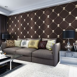 Leather Living Room Wallpaper Australia - Beibehang European luxury luxury Lingge living room TV background wallpaper 3D stereo soft lacquer deer leather 3d wallpaper