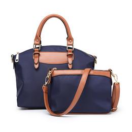 sac main marque femme 2019 - Fashion Women Messenger Bag Waterproof Nylon & Leather Handbag Composite Bag Sac A Main Femme De Marque Shoulder Cro