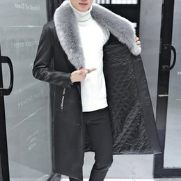 $enCountryForm.capitalKeyWord Australia - NEW Fashionable hair collar medium long Korean Edition body repair and thickening fur coat male coat motorcycle leather coat