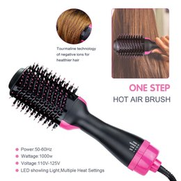 Air Brush Hair Styler NZ - Hair Dryer Volumizer Ceramic Electric Blow Dryer Hot Air Styling Brush Negative Ion Generator Hair Straightener Curler Styler