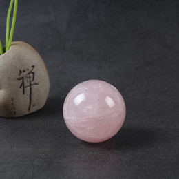 $enCountryForm.capitalKeyWord NZ - Wholesale Natural Pink Rose Quartz Magic Crystal Healing Ball Sphere Crystal Quartz Ball 40mm For Sale 1PCS