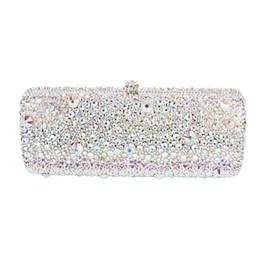 Blue Crystal Clutch Bag UK - Australian crystal Luxury evening bag Bling  party purse Top diamond 989de90e3598