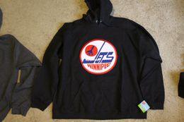 New Cheap custom Winnipeg Jets Hooded sweatshirt Hoodie Rare NWT NHL CCM Jerseys  stitched Men s hockey jersey 8860ea7c1