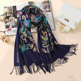 0d8bafc1f8ed2 2018 designer quality embroidery cashmere scarves vintage winter women scarf  long size shawls and wraps lady soft warmer foulard