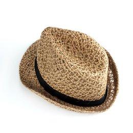 42f20998644 Lacontrie Fashion Handwork Women Summer straw Sun hat Boho Beach Fedora hat  Sunhat Trilby Men Panama Gangster Cap Good Pack