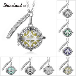 Pregnancy Chime Pendant Australia - whole salePendant Necklace Pregnancy Balls Bola with Cage Angel Ball Baby Chime Hollow Out Metal Chain Necklaces & Pendants for Women