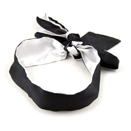 Eye Patches Sale Australia - Reversible Bondage Sexy Eye Patch Party Masks Game For Men And Women Soft Ribbon Eyeshade Hot Sale 4 5hs Ww