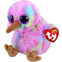 "heart stuffed animals 2019 - Pyoopeo Ty Beanie Boos 6"" 15cm Kiwi the Pink Bird Plush Regular Soft Big-eyed Stuffed Animal Collection Doll Toy wi"
