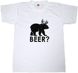 d534558d BEER T-SHIRT FUNNY BEAR DEER DRINKING PARTY COMEDY JOKE SLOGAN SAYING T  SHIRT