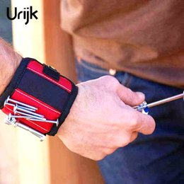 $enCountryForm.capitalKeyWord NZ - Urijk 3Color Powerful Nylon Magnetic Wristband Tool Bag Intake Arm Band Work Holding Screws Drill Bits Holder 3 Magnets
