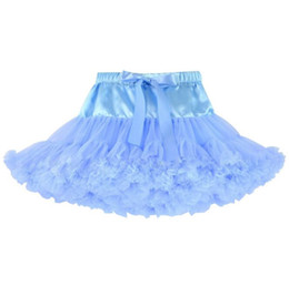 red white blue tutus Australia - skype blue Kids Clothes Girls Half Body Skirts Fashion Dance Skirts Net Yarn Stitching Skirt For Kids Baby Girls dress free shipping