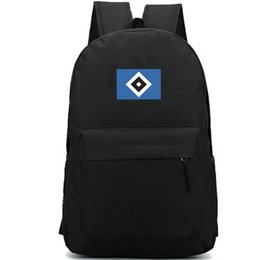 Chinese  Hamburger Verein backpack Hsv club badge school bag Football team daypack Soccer schoolbag Outdoor rucksack Sport day pack manufacturers