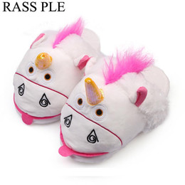 $enCountryForm.capitalKeyWord Canada - RASS PLE Soft Plush Unicorn Indoor Home Slippers Winter Warm Cotton House Shoes Women Chausson Licorne Slippers Pantoufle Femme