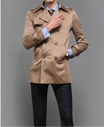 Discount fashion thermal jacket for men - Khaki black blue Fashion spring autumn thermal slim cool men's clothing jackets korean clothes for men british styl