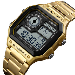 $enCountryForm.capitalKeyWord UK - Compass Sports Watch Men Calories health Waterproof Watches Stainless Strap Wristwatch Chronograph Relogio Masculino