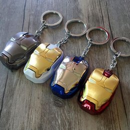 ivory ring men NZ - Marvel Super Hero The Avengers Iron Man Mask Keychain Fashion Ironman Head Metal Pendant Key Chain Ring Chaveiro Llaveros