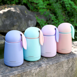 Thermo waTer boTTle vacuum online shopping - 300ml Stainless Steel Vacuum Cup Easter Kawaii Rabbit Ears Double Walled Insulated Water Bottle Travel Drink Coffee Thermo Mug hy Y