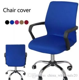 Computers Europe Australia - Smooth Elastic Polyester Computer Chair Office Chair Cover Stretch Armchair Covering Sillas Comedor Protector Slipcover S M L AJI-618