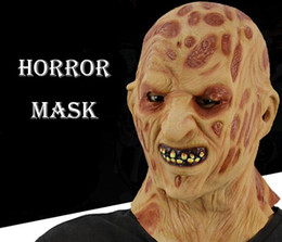 Discount christmas costumes men - Burn Face Horror Mask Realistic Adult Party Costume Horror Mask Scary Halloween Carnival Cosplay Zombie Mask