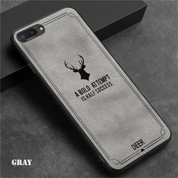 Rose cloth online shopping - Cloth Texture Emboss Deer Soft TPU Case For Iphone X Soft TPU Back Cover For Plus