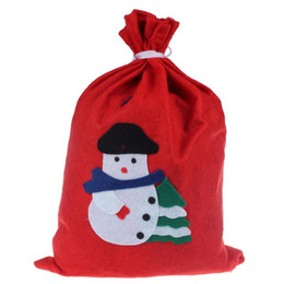 Chinese  Drawstring backpack Christmas Candy Bag Storage New Santa Claus Gift Bag Candy Gift Xmas Tree Party Decoration A0801#30 manufacturers