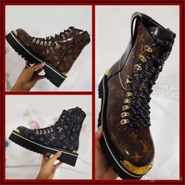 Discount b grade shoes - Hot! Fashionable Autumn Temperament Women Flat Bottom Sport Short Boots High-grade Genuine Leather Matin Boot Ladies Gre