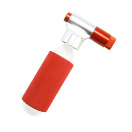 Super mini bikeS online shopping - Super Light g Mini Portable Mountain Bike Bicycle Air Pump Accessories CO2 Cartridge Dual Head Cycling Tire Pump Ball Inflator