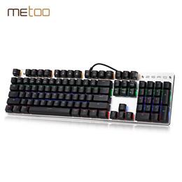 $enCountryForm.capitalKeyWord Canada - METOO ZERO 104 Keys Mechanical Keyboard Blue Switches Computer Keyboard Gamer with LED Backlight for Gaming PUBG PK K753