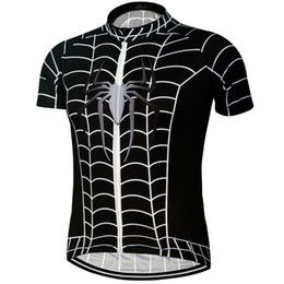 america jersey s UK - Breathable Captain America Spiderman Batman Cycling Jersey Short Sleeve Summer Men's Shirt Bicycle Wear Racing Tops Bike Cycling Clothing
