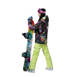 women skiing clothes UK - 2017 New High Quality Women Skiing Jackets And Pants Snow Snowboard Clothes Warm Waterproof Windproof Winter Dress Ski Suits Set