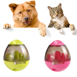 toy play food NZ - Dog Cat IQ Food Ball Pet Interactive Toy Tumbler Egg Smarter Dogs Playing Treat Ball Puzzle Shaking Food Dispensing Feeder Leak