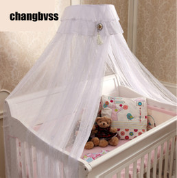 $enCountryForm.capitalKeyWord NZ - Beautiful Bed Canopy Baby Todder Crib,White Pink Yellow Netting Curtain Dome Mosquito Net,New Baby Infant Bed Canopy Insect Net