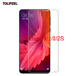 Discount phone screen scratch - 9H Tempered Glass Film For Xiaomi Mi Mix Mix2 2S Screen Protector 9H Toughened Protective Film Phone Guard