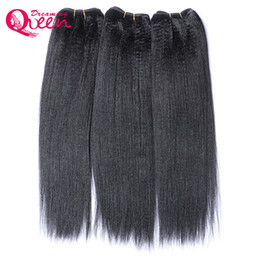 China Brazilian Light Yaki Hair Bundles Virgin Human Hair Coarse Yaki India Yaki Weaves 100% Unprocessed Hair Natural Color 3 Pieces Free Shipping cheap malaysian light yaki suppliers