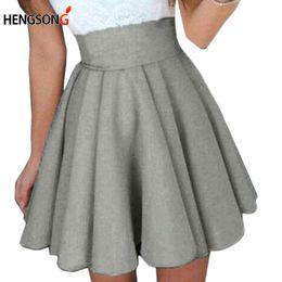 Wholesale Gowns For Women NZ - Short Skirt For Women 2018 New All Fit School Skirt Black Grey Color Women Dance Short Skirts Ball Gown Puff HO832347