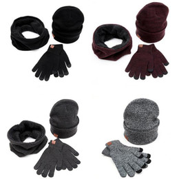 $enCountryForm.capitalKeyWord Australia - Wholesale-Men women autumn winter European American popular Couple lover Hats Scarves Gloves Sets multi knitted sweater hat scarf gloves