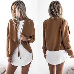 $enCountryForm.capitalKeyWord Canada - 2018 Women Clothes Short Jackets Fall Winter Coats for Women New European and American Wool Blends Coats Asymmetric Rules Short Jacket