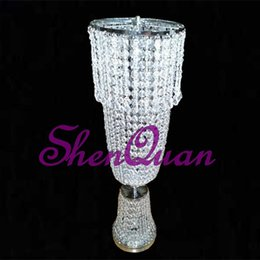 $enCountryForm.capitalKeyWord Australia - China manfacturer Wedding centerpieces luxury spiral crystal flower vase waterfall wedding lead road,foot acrylic chandeliers flower stand