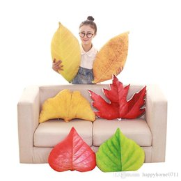 Cotton Print Material NZ - 3D printing simulationCreative Leaf Shape Pillows cushion Napping Material Soft and Comfortable Multi Color Optional Holiday and Party Gifts