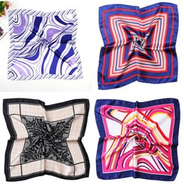 VelVet silk scarfs online shopping - Lady Business Suits Small Silk Scarf Gift Airline Stewardess Bank Printing Square Scarves Women Kerchief Artistic Performance zx WW