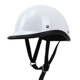 $enCountryForm.capitalKeyWord Australia - TT&CO style half face motorcycle helmet light weight cap style Fiberglass shell DD ring buckle retro vintage helmet