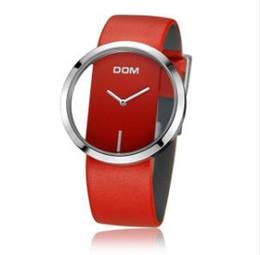 017c70e8baf Brw DOM Relógios mulheres top marca de luxo relógio de Quartzo de Couro  Casual feminino Relógio menina vestido de pulso relogio montre femme saati  LP-205