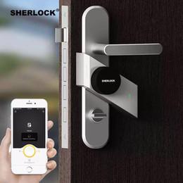 Wireless Door Key Australia - Sherlock S2 Electric Lock Fingerprint+Password Smart Door Lock Add 1Pc Key For Office Glass Door Wireless APP Bluetooth Control