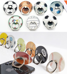 mobile finger grip 2019 - Football Mobile Phone Holder Ring Buckle Universal 3D Cartoon Basketball Stand Finger Grip Mount For Samsung S8 S9 Note